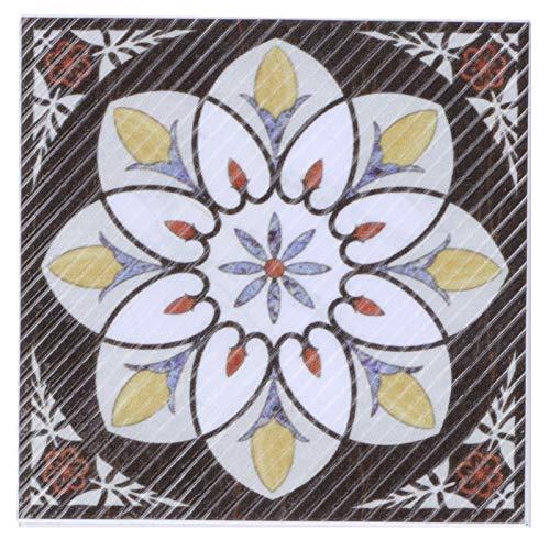 Vinilo adhesivo para suelo de azulejos Diagonal para comedor, cocina, sala de juegos de niños, sala de estar