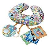 Chicco Boppy - Cojín ergonómico con actividades - Alfombra y gimnasio de juegos bebés - colores animales