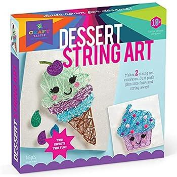 Craft-tastic – String Art Kit – Craft Kit Makes 2 Large String Art Canvases – Desserts Edition