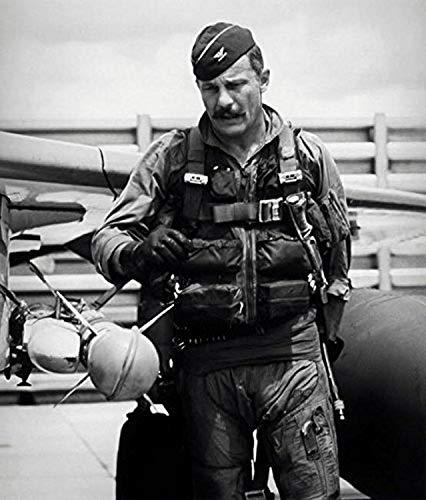 Colonel Robin Olds doing a preflight inspection on his F-4C Phantom 1967 Poster Print by John ParrotStocktrek Images (11 x 17)