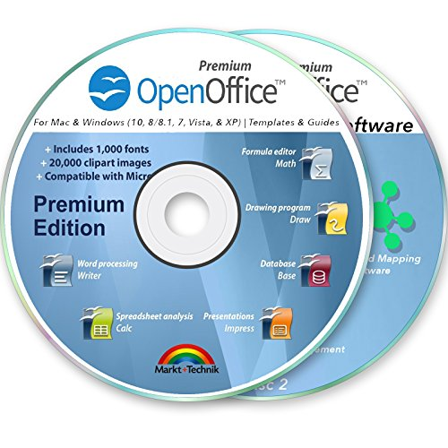 Office Suite 2019 Professional for MS Windows PC & Mac Home Student Business Software Compatible with Microsoft Word Excel Disk 2 DVD Set by OpenOffice
