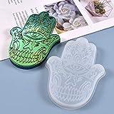 AIUII - Molde de silicona de resina epoxi con forma de mano de Fátima Ornaments Casting