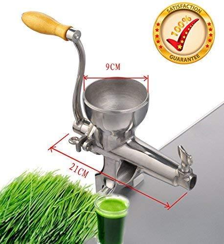 FEE-ZC Home Handkurbel Top-Qualitt Kaltpressung manuelle Edelstahl Wheatgrass Juicer gesunde Weizengras Entsafter Maschine, Weizengras Saftpresse