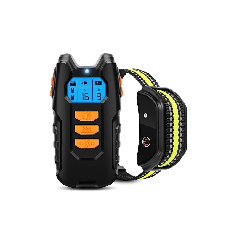 dog supplies online flittor dog training collar, shock collar for dogs with remote, rechargeable dog shock collar, 3 modes beep vibration and shock waterproof bark collar for small, medium, large dogs
