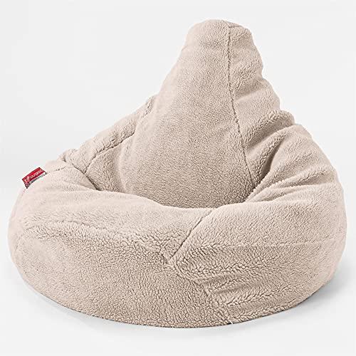 Lounge Pug - Silla De Juego Puf con Escabel - Piel de Osito Sintética Visón