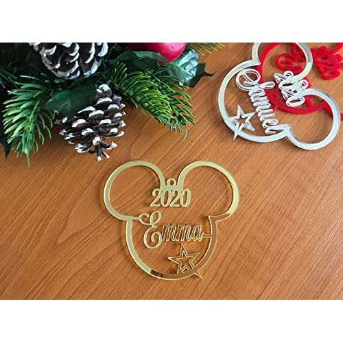 Christmas Tree Decorations Names.Amazon Com Mickey Mouse Ears Christmas Tree Decoration 2020