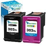 Inkwood HP 303 XL - Cartuchos de tinta remanufacturados para Envy Photo 7134, 7830, 6232, 6230, 7130, 6220, 6234, 7100, 7155, 7800, 7834, 7855 y 7864 6222 6252 Tango X