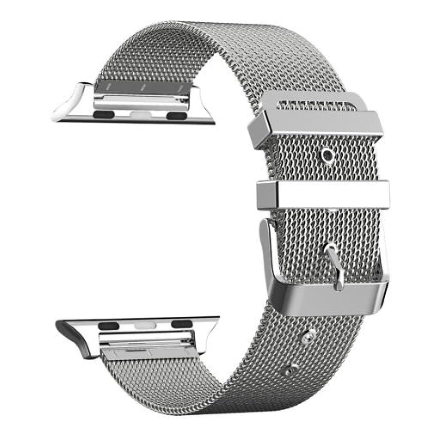 ブランク胆嚢チキンApple Watchベルト ステンレス留め金製38mm 42mmに対応 series1/ series2/ series3 (42MM, シルバー)
