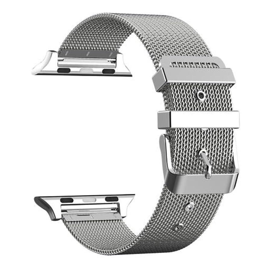るリスク列車Apple Watchベルト ステンレス留め金製38mm 42mmに対応 series1/ series2/ series3 (42MM, シルバー)