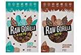 Raw Gorilla Keto Breakfasts (Keto Taster Multipack, 2 x 250 g)   Keto Chocolate Granola   Keto Choc Chip Muesli   Vegano   Orgánico   Sin azúcar añadido   Sin gluten