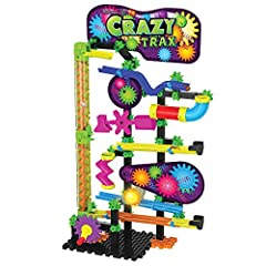 Techno gears marble Mania crazy Trax is a great way to challenge your child's building skills Once completed they simply drop the marbles into the top of the track and let the fun begin! The color instruction manual provides step by step instructions...