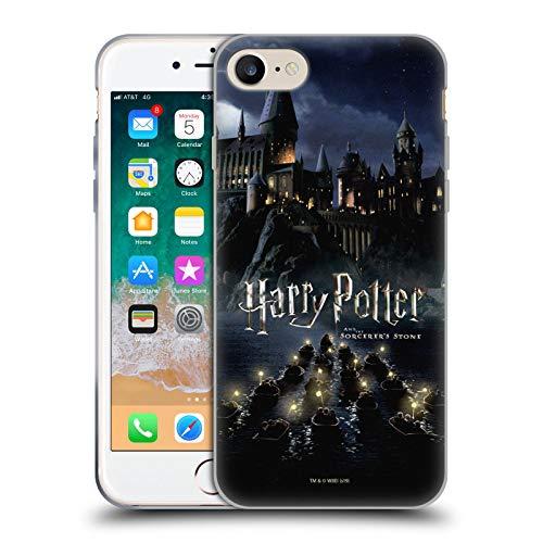 Head Case Designs Licenza Ufficiale Harry Potter Castello Sorcerer's Stone II Cover in Morbido Gel Compatibile con Apple iPhone 7 / iPhone 8 / iPhone SE 2020