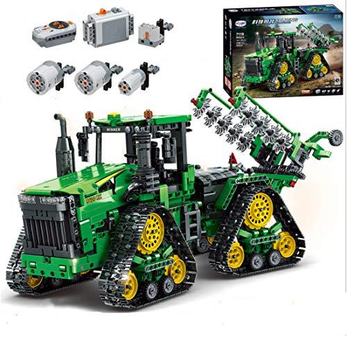 LYCH Technik Traktor Ferngesteuert, 1706 Klemmbausteine Technik Traktoren Motorisierter mit Fernbedienung und Motors Bauset Kompatibel mit Lego Technic Traktor
