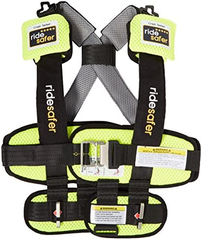 Ride Safer Delight Travel Vest Large Yellow Includes Tether and Neck Pillow product image