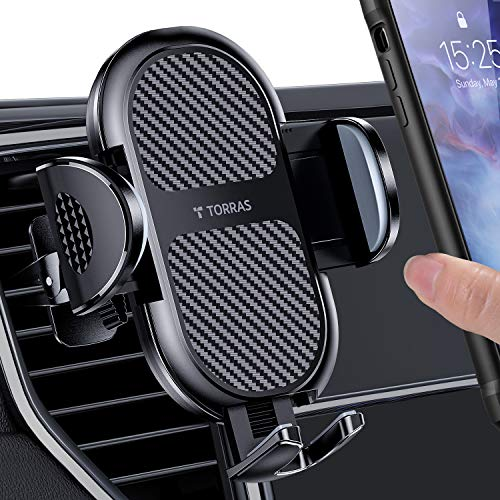 2021 Upgraded TORRAS Air Vent Car Phone Holder [Thick Case & Big Phone Friendly] Car Vent Phone Mount with Strong Clip , Compatible with iPhone 12 11 Pro Max, Samsung Galaxy S20 Ultra and More