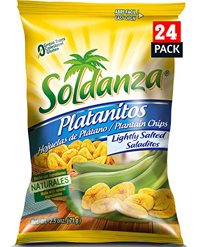 Soldanza Lightly Salted Plantain Chips, 2.5 Ounce (Pack of 24)