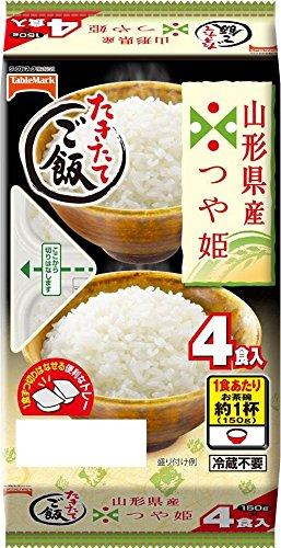 テーブルマーク たきたてご飯山形県産つや姫分割 4食(1食150g)