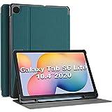 ProCase Funda para Samsung Galaxy Tab S6 Lite SM-P610 SM-P615 10.4' 2020, Smart Cover Carcasa Delgada Tipo Libro para 10.4 Pulgadas Galaxy Tab S6 Lite 2020 -Verde Azulado