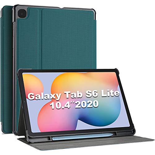 ProCase for Samsung Galaxy Tab S6 Lite Case Cover, 10.4 inch 2020 Release (SM-P610 / P615), Slim Protective Business Folio Book Case -Teal