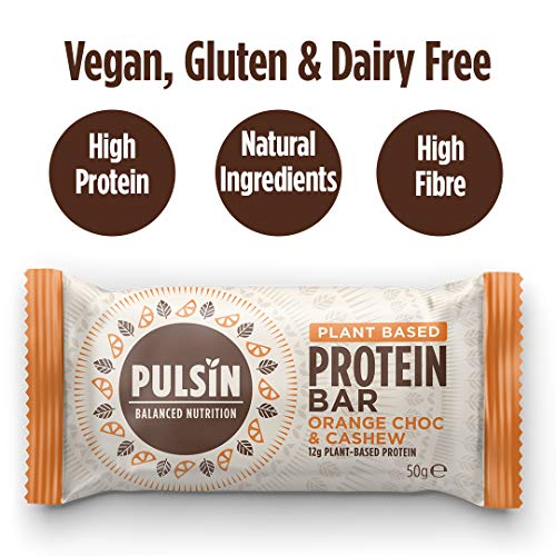 Pulsin Orange and Choc Chip Protein Snack - Box of 18x50g Bars