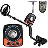 UNIROI Metal Detector, Professional Metal Detector with Waterproof Search Coil and Multi-Function Retractable