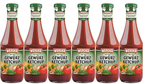 WERDER 6 x Gewürz Ketchup 750 ml