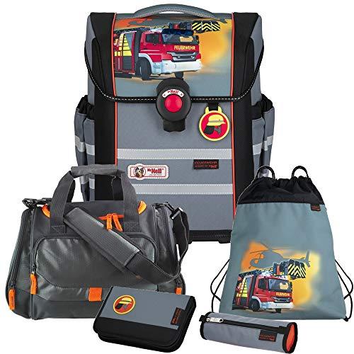 Firefighters Feuerwehr - McNeill Ergo MAC Schulranzen-Set 5 TLG. mit Sporttasche