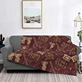 Pilling Resistant Flannel Deluxe Texas State University Blanket Printed Blankets Super Soft Comfort for All Seasons Available in Three Sizes