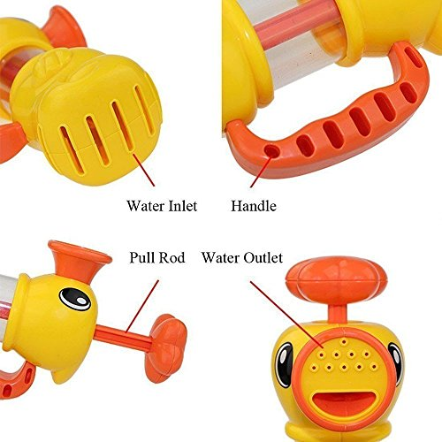 Ulooie Creative bébé enfant Forme de canard de bain Pompe à eau piscine Jouets Spray