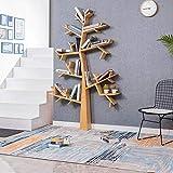WZF Bibliothèque-étagère en Forme d'arbre au Sol avec Cadre décoratif en Bois Massif, Support de...