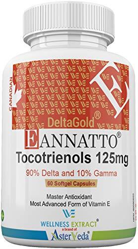 E Annatto DeltaGold Tocotrienols 125mg Vitamin E 60 softgel, TocopherolFree