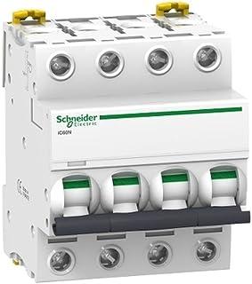 Schneider Electric A9F79440 Interruptor Automático Magnetotérmico Ic60N, 4P, 40A, Curva C