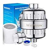 WinArrow Filtre à douche - Puissant Cartouche de Filtre Remplaçable, Empêche les Cheveux et la Peau de Sécheresse, Supprimer...