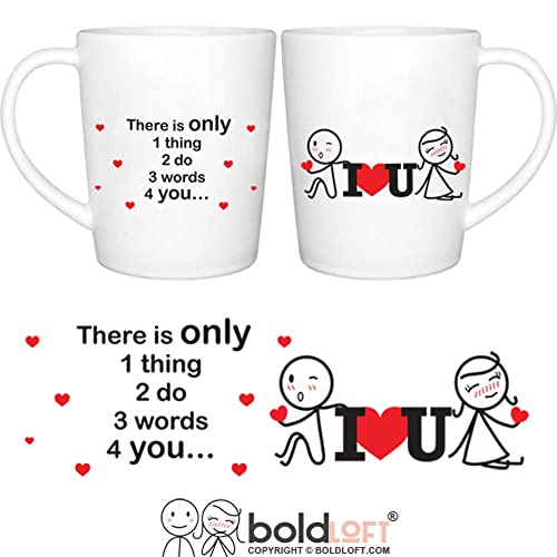 BOLDLOFT 3 Words For You Couple Coffee Mugs