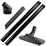 SPARES2GO Universal Extension Rods/Attachment Hoover Tool Kit for Vacuum Cleaner (32mm Nozzle Diameter)