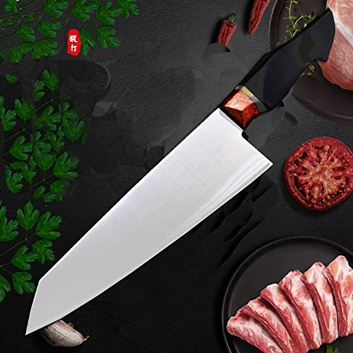 Chef's Knives,Kitchen Knife Chef Knife VG10 High Carbon Steel Knife Mirror Finish Stainless Steel Japanese Super Gyuto withEbony Handle BY GHJK