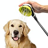 Wondurdog Quality Dog Wash Kit for Shower with Splash Guard Handle and Rubber Grooming Teeth. Indoor and Indoor/Outdoor Versions Available. Wash Your Pet. Don't Get Wet!