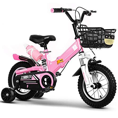 QINFEN Bicicleta Infantil para niños y niñas, a Partir de 3 años, 12/14 / 16/18 Pulgadas
