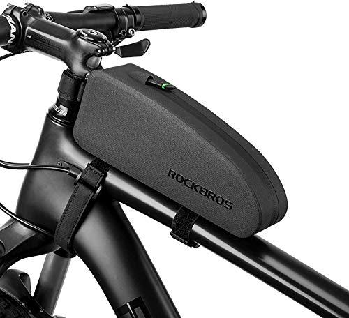 ROCKBROS Fahrrad Rahmentasche wasserdichte Oberrohrtasche Fahrradtasche Lenkertasche Schwarz 1L /1,6 L
