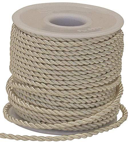 Nastro corda cordino AVORIO 3 mm x 25 metri