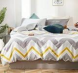 GETIYA - Juego de ropa de cama de 220 x 240 cm, diseño geométrico de ondas, para hombre y mujer,...