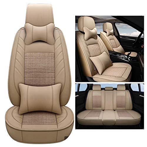 HRFHLHY Auto-Sitz Wear-Resistant Leder mit Breathable Silk Material des Eises Auto-Sitzabdeckung Kompatibel mit Lexus,Beige,GS300