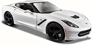 Maisto 2014 Chevy Corvette Stingray Coupe, White 31505-1/24 Scale Diecast Model Toy Car
