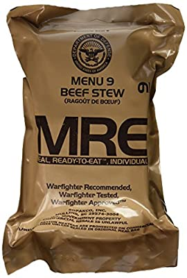 Beef Stew MRE Meal - Genuine US Military Surplus Inspection Date 2020 and Up