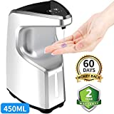 AFMAT Touchless Soap Dispenser,Automatic Soap Dispenser,Hand Sanitizer Dispenser,Contactless Liquid Soap Dispenser,Bathroom Kitchen Soap Dispenser,15.2 oz,Dish Soap Dispenser for Kitchen
