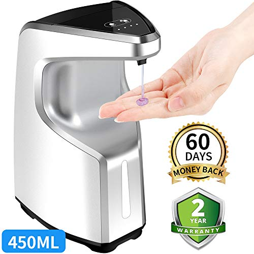 AFMAT Touchless Soap Dispenser,Automatic Soap Dispenser,Hand Sanitizer Dispenser,Contactless Liquid Soap Dispenser,Bathroom Kitchen Soap Dispenser,15.2 oz,Dish Soap Dispenser for Kitchen