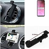 K-S-Trade pour Cubot R19 Smartphone Holder Support De Téléphone Grille De Ventilation Montage Titulaire Compact Voiture Air Vent Véhicule Noir 1x