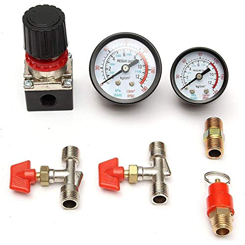 LHQ-HQ. 125psi Steuerverteileinrichtung Regulator Gauges Luftkompressor Druckventil Schalter Filterpumpe