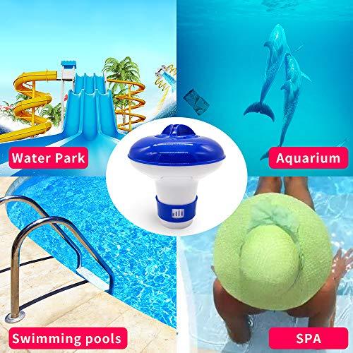 MiaoxinUK - Dispensador flotante de cloro para piscina, jacuzzi, spa, dispensador flotante de bromo, 13 x 13,5 cm