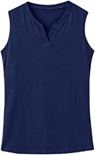 Women Tank Top Stretch Basic Solid V Neck Sleeveless Shirts